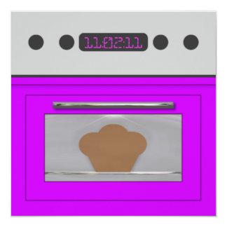 Baby Bun Recipe Invitation(purple) Card
