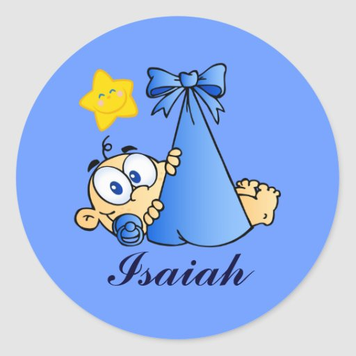 Baby Bundle and Sun Name Sticker
