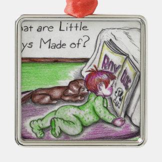 Baby Bundting Metal Ornament