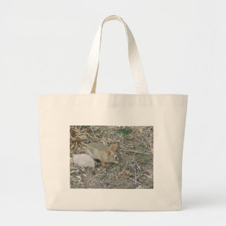 Baby Bunny And Grass Blade Bag