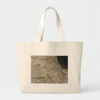 Baby Bunny And Rim Large Tote Bag