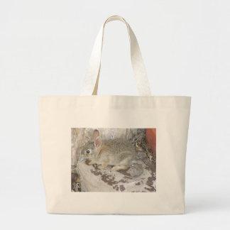 Baby Bunny At Corner Canvas Bag