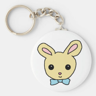 Baby Bunny Basic Round Button Keychain