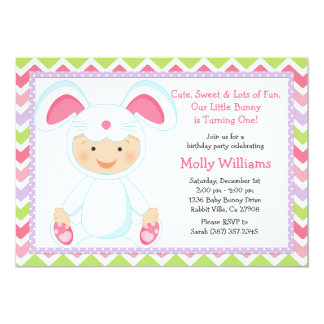 Baby Bunny Birthday Party Invitation
