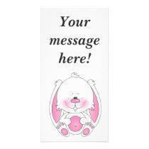 Baby Bunny Cartoon Card