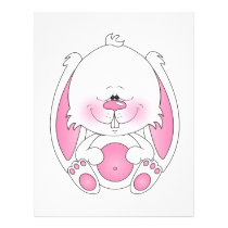 Baby Bunny Cartoon Flyer