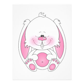 Baby Bunny Cartoon Flyer