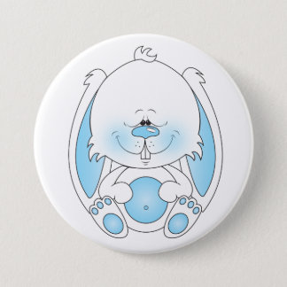 Baby Bunny Cartoon Pinback Button