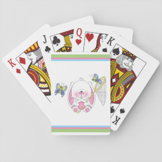 Baby Bunny Cartoon Playing Cards