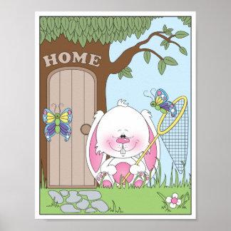 Baby Bunny Cartoon Poster