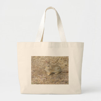 Baby Bunny Confronts Camera Tote Bags