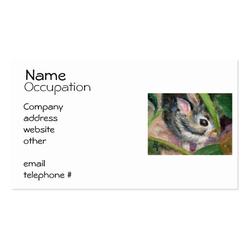 Baby Bunny Hiding Double-Sided Standard Business Cards (Pack Of 100)
