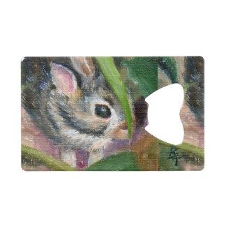 Baby Bunny Hiding Credit Card Bottle Opener