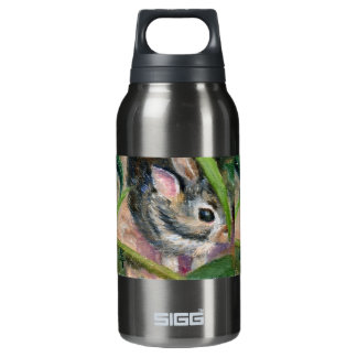 Baby Bunny Hiding Insulated Water Bottle