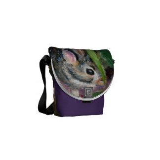 Baby Bunny Hiding Messenger Bag