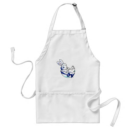 baby bunny in egg blue ribbon.png adult apron