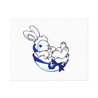 baby bunny in egg blue ribbon.png canvas print