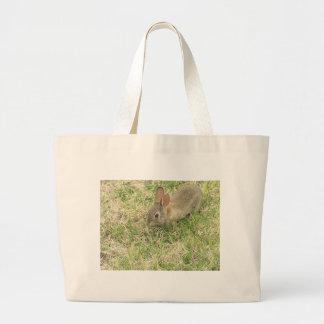 Baby Bunny In The Yard Bag