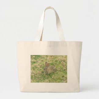 Baby Bunny Munching Tote Bag