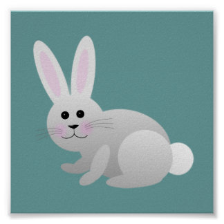 Baby Bunny/ Nursery Decor Poster