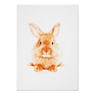 Baby Bunny Nursery Print on 5x7 Cardstock Card
