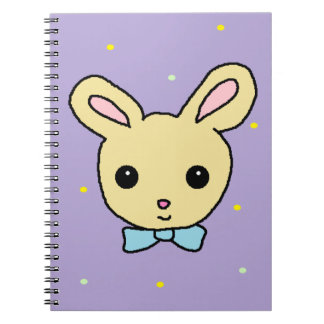 Baby Bunny Purple Spiral Notebook