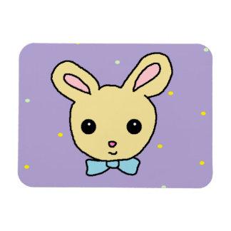Baby Bunny Purple Rectangular Photo Magnet