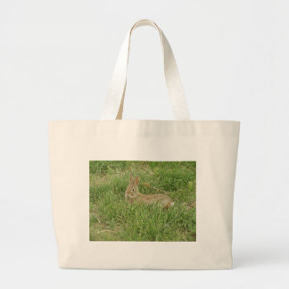 Baby Bunny Sentry Large Tote Bag