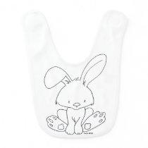 Baby Bunny to color yourself - Woodland animal Bib