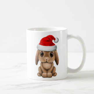 Baby Bunny Wearing a Santa Hat Coffee Mug