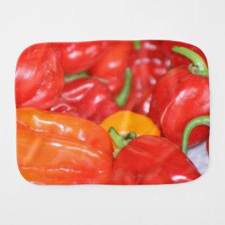 baby burp cloth template hot pepper