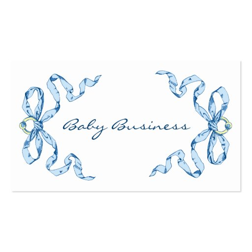 Baby Business Blue Bows Business Cards