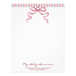 Baby Business Customizable Letterhead