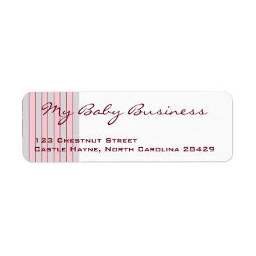 Professional Business Baby Business Grey & Pink Return Address Labels