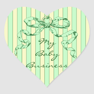 Baby Business Heart Shaped Personalized Stickers