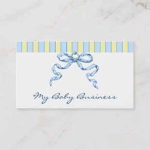 Stripe bow business cards zazzle baby business stripes and bow business cards colourmoves