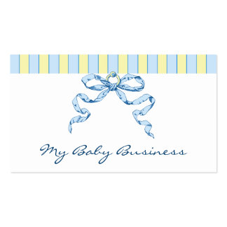 Baby Business Stripes and Bow Business Cards