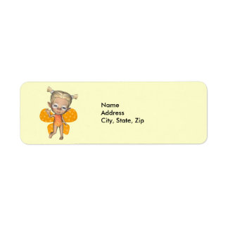 Baby Butterfly Strangeling Addess Label
