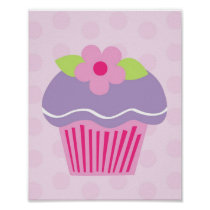 Baby Cakes Cupcake Girls Nursery Wall Art Print