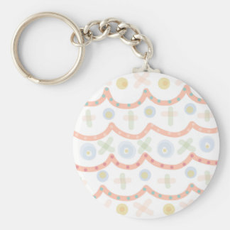 Baby Cakes. Sweet pastel colourful pattern Basic Round Button Keychain