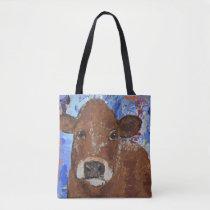 Baby calf and Mom Tote Bag
