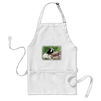 Baby Canadian Goose Photo Sketch Adult Apron