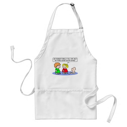 baby can't talk sound bites adult apron