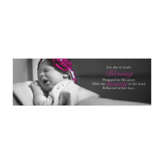 BABY CANVAS GODS BLESSING GALLERY WRAPPED CANVAS