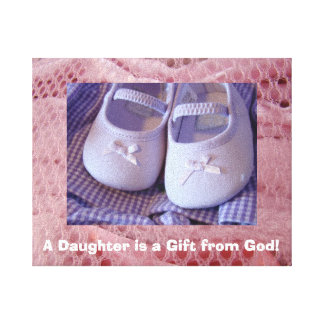 Baby Canvas print custom Daughter Gift from God