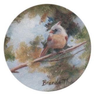 Baby Cardinal Plate