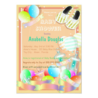 baby care essentials baby shower invitations