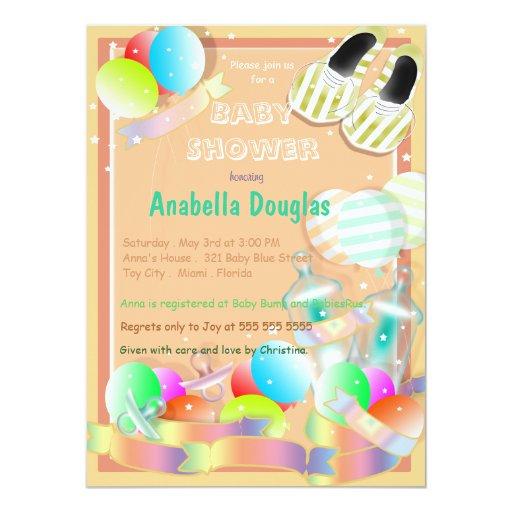 baby care essentials baby shower invitations zazzle