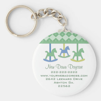 Baby Carousel Business Magnet Keychain