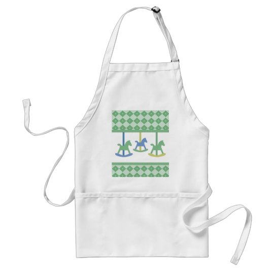 Baby Carousel Collection Adult Apron
